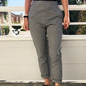 White & Black checkered pants by NASTY GAL